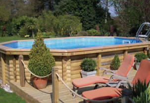 Endless summer luxury wooden swimming pool for Luxury above ground pools
